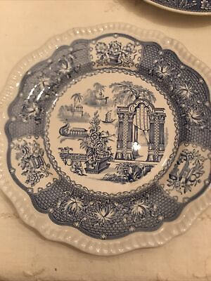 Spode Blue Collection Regency Pagoda Plate  • 8£