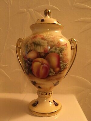 "Aynsley Orchard Gold 9"" Covered Vase • 15£"