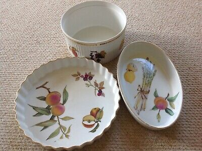 Royal Worcester, Gilt Edge, Oven To Tableware, 3 Pieces • 10£