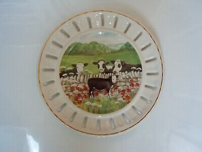 Cow Plate By Fenton China • 2.50£