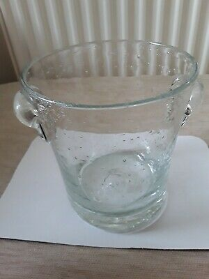 A Hand Made Vintage Bubble Glass Ice Bucket By Raphael Farinelli, Biot, France • 19.99£