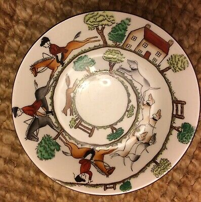 Crown Staffordshire Hunting Scene • 5£