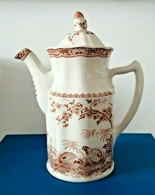 Furnivals 1913 Quail China Coffee Pot • 30£