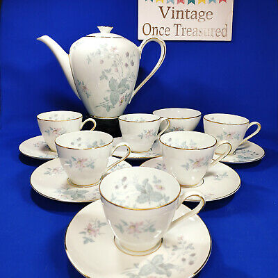 KPM Krister 629 - 14 Piece Coffee Set For 6 - Vintage 1950s Rosenthal Germany • 18.75£