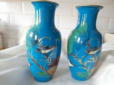 Chinese Or Asian Vases Stamped By Dong Ya Or Dongya • 15£