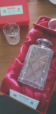 Brierley Lead Crystal 'Bruce' Whisky Decanter And Glasses Boxed Pristine • 49.50£
