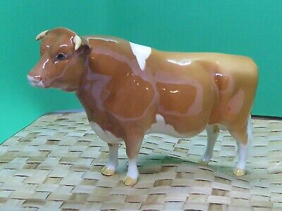 Superb Beswick Guernsey Bull 1451 Rare Early Edition Farm Animal Mint Perfect • 45£