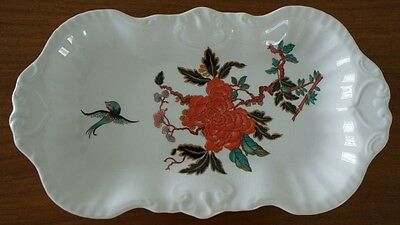 Beautiful Dish / Plate With Blue Bird Chinese Style Floral • 5.99£