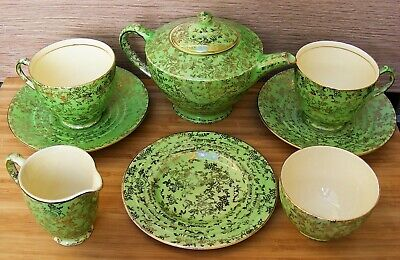 Empire - Art Deco Teaset For Two - Shelton Ivory Pattern - 1940 - Good Condition • 45£
