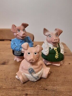 NatWest Pigs With Original Stoppers X3 • 19.99£