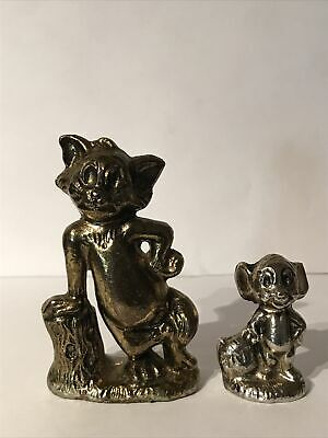 Wade  Tom And Jerry Figures Gold And Silver Colour Base Metal Hollow Prototype? • 149.99£