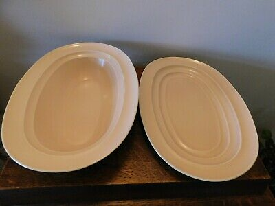Vintage Beige Serving Plate & Dish Branksome China Date 1945 -1956 • 24£