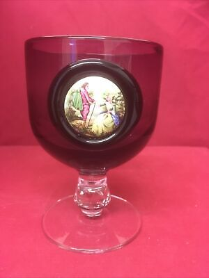 Wedgwood Amethyst Glass With Porcelain Embellishment • 8£