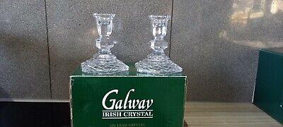 Galway Crystal Candle Holder And Napkin Rings • 30£