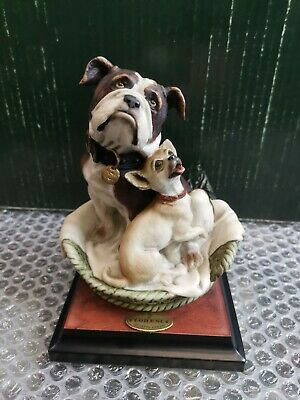 Giuseppe Armani Dog Figerines Odd Fellows Made In Italy Florence Sculpture 0728s • 155£