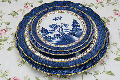Vintage Booths Real Old Willow A8025 Dinner, Salad  , Dessert Plates • 10.50£