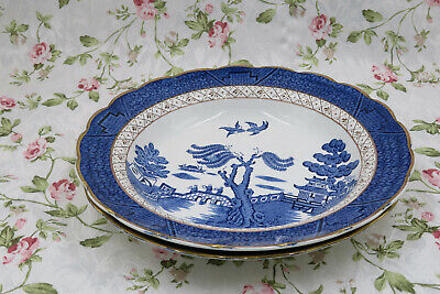 Vintage Booths Real Old Willow A 8025  Soup Plates And Pasta /rice Bowls • 9.50£