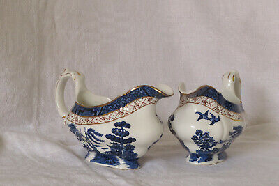 Vintage Booths Real Old Willow A 8025  Soup Cups And Gravy Boats • 15£
