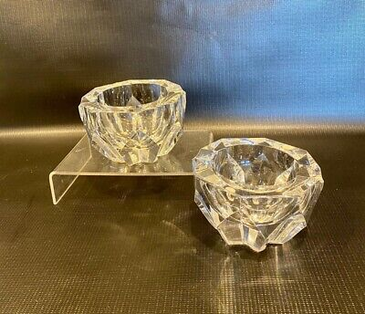 A Pair Of Baccarat Crystal Glass Astrays Mint Condition • 0.99£