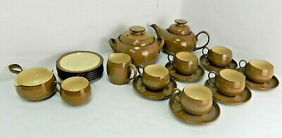 COLLECTABLE DENBY FINE STONEWARE TEA SET. Hand Crafted Large Set • 6.89£