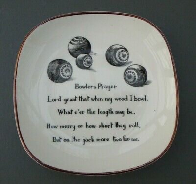 Grays Pottery  BOWLERS PRAYER   Coin Tray - Vintage / Retro / Collectable • 6.99£