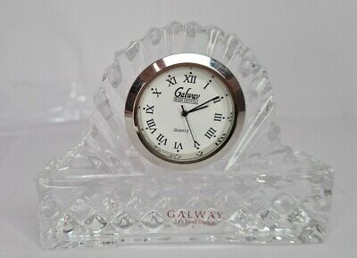 Galway Irish Crystal 24% Lead Crystal Glass Mantel Clock Excellent Condition • 5£