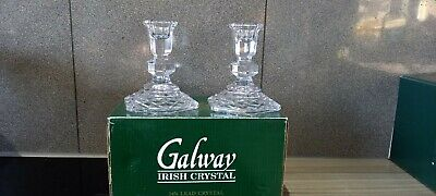 Galway Crystal Candle Holder And Napkin Rings • 25£