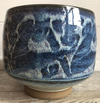 Vintage Anvil / Wilan Pottery Wales Blue Glazed Stoneware Planter- Lovely Con • 12.49£