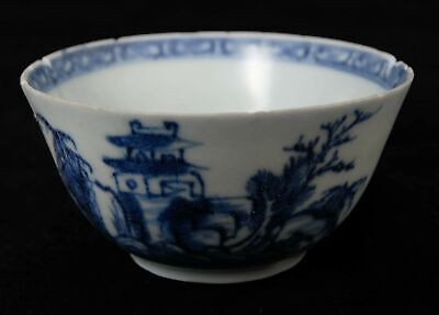 Nanking Chinese Blue And White Porcelain Teabowl • 21.95£