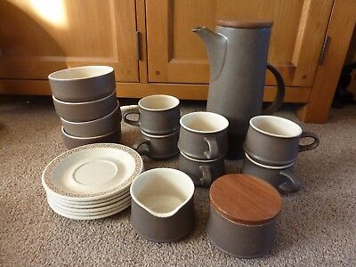 Purbeck Pottery Tea-/Coffee Set + Cereal Bowls   • 40£