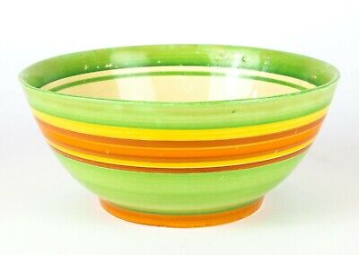 CLARICE CLIFF For LIBERTYS -BANDED- C1930's ART DECO NEWPORT BIZARRE GREEN BOWL  • 199.99£