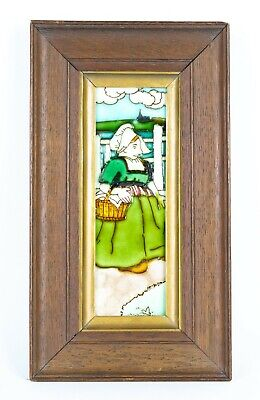 -FREDERICK For CHARLOTTE RHEAD- DUTCH GIRL TUBE-LINED POTTERY WALL TILE PLAQUE • 499.99£