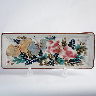 Highland Stoneware Hand Painted Large Rectangle Dish Traditional Floral 15.25  • 39.99£