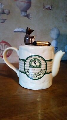 Teapottery Swineside Pottery Wensleydale Cheese Teapot Limited Edition • 80£