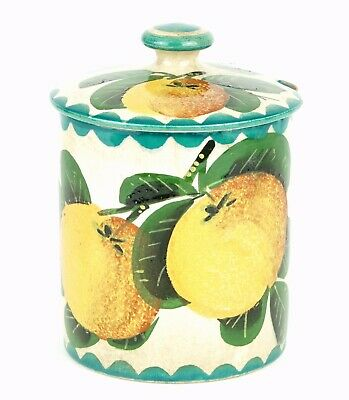 Wemyss -seville Oranges- Antique Large Fruit Preserve Honey Pot Bowl Jar Cover • 90£