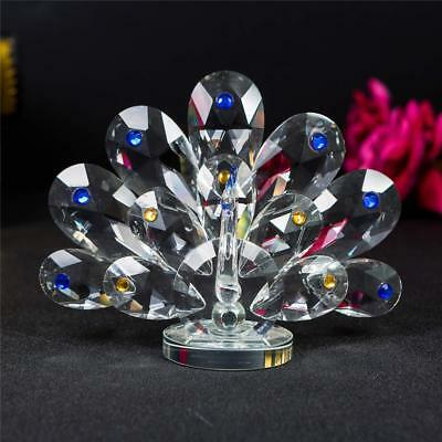 Decorative Crystal Animal Peacock Ornament With Swarovski Crystal Elements Gift  • 14.75£
