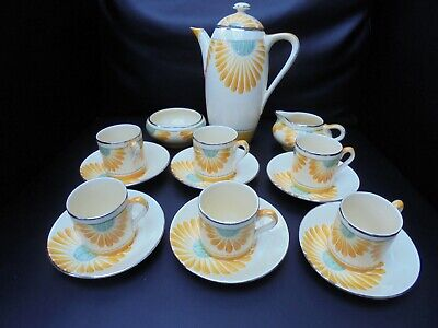 A Grays Pottery SUNFLOWER Coffee Set • 350£