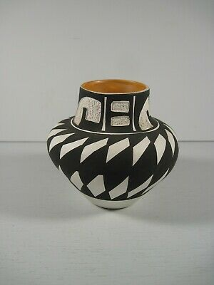 Acoma New Mexico Pottery Miniature Vase Pot Signed G.Sal • 46.99£
