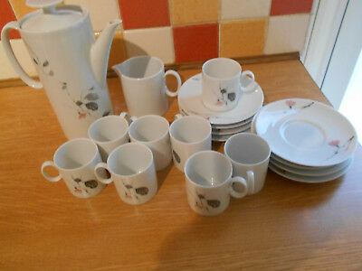 Thomas Rosenthal Germany Coffee Pot, Milk Jug, 8 Cups And Saucers • 19.99£