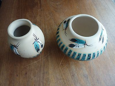 Native American-style Navajo Vases Turquoise Decoration By  Marilyn  Wiley • 40£