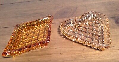 Glass Ribbed Vintage Trinket Dishes Great Condition  • 4£