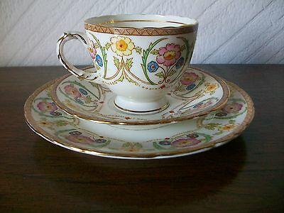 Art Deco Sutherland Bone China Trio With Gold Trim #2484 -1 Cup 1 Saucer 1 Plate • 17.95£