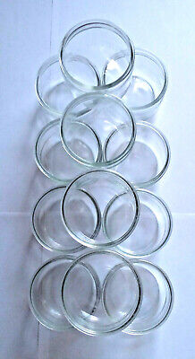24 Small Clear Glass Pots • 14.95£