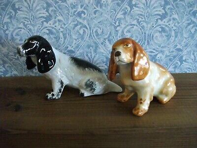Vintage Midwinter Burslem, Pair Of Spaniel Dogs, VGC++ • 12.99£