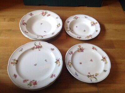 Antique Crescent George Jones & Sons ( 12 Pieces Of Dinner Ware Pattern 3706 ) • 21.99£