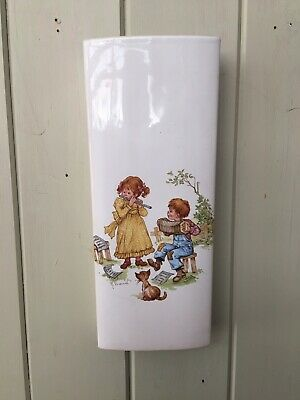 Beautiful Vintage 1970s Ceramic Wall Pocket 22cm Child's Picture Decor Signed • 14.99£