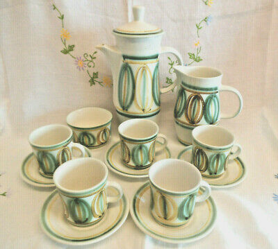 Vintage Cinque Ports Pottery Coffee Set The Monastery Rye C. 1970s • 20£