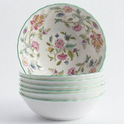 Minton Haddon Hall 7 Fruit Saucers Berry Bowls 5.25  Made In England • 54.99£