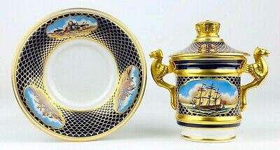 Spode -shipwrights Cup- Ltd Ed' Marine Collection Chocolate Cup & Saucer 241/500 • 99.99£