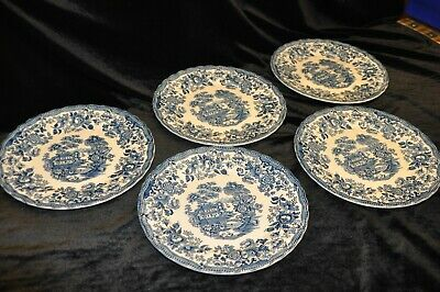Myott Tonquin Made In Staffordshire England 5 X Dinner Plates 25cm • 20£